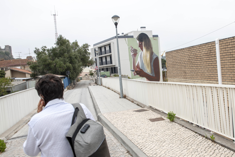 """Trabalhos das edições anteriores do """"Leiria Arte Publica"""""""