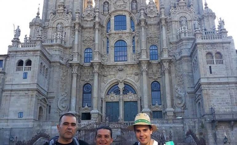 Jorge, Lurdes e António no fim do caminho