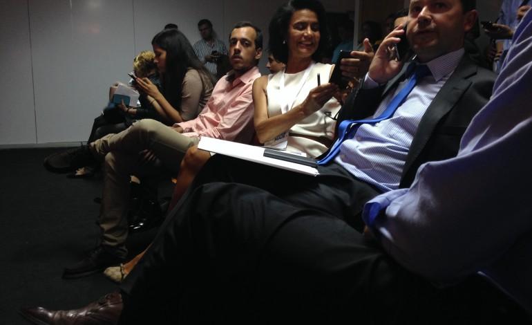O ambiente de festa na sede do PàF com os deputados já eleitos (Foto: Ricardo Graça)