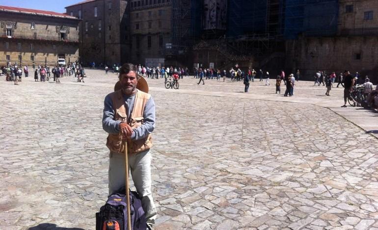 Na Praça do Obradoiro em Santiago de Compostela