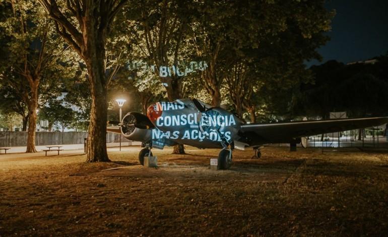 Intervenção de Mais Menos no Parque do Avião