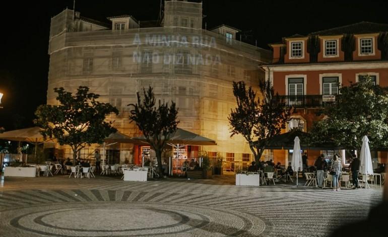 Intervenção de Mais Menos na Praça Rodrigues Lobo