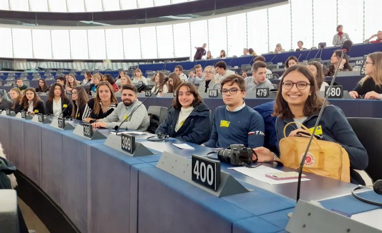 Jovens de Leiria estiveram em Estrasburgo a participar no Euroscola